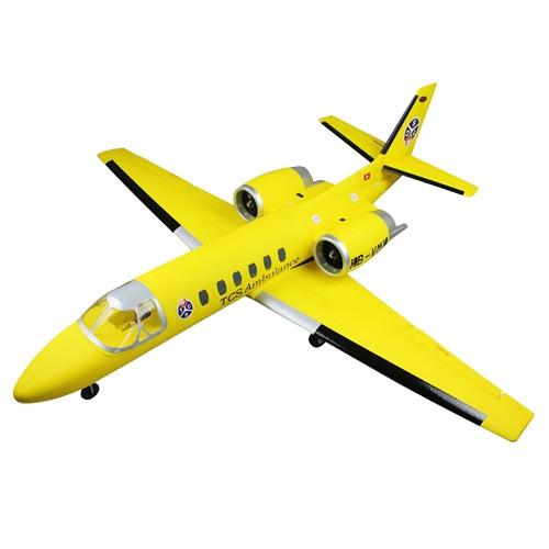 Dynam Cessna 550 Citation Electric RC Jet V2 Retracts ARTF (no Tx/Rx/Bat) -Yellow
