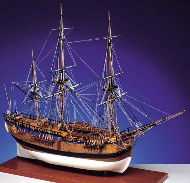 Caldercraft HM Bark Endeavour 1768 Wooden Kit 1:64 Scale