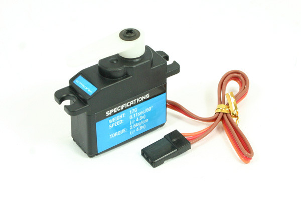 Etronix Micro Servo 17g Weight and 2.6 Kg Torque