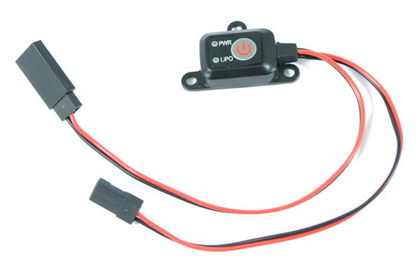 Electronic Power On/Off Switch with LED Battery Monitor and Lipo Cut-Off