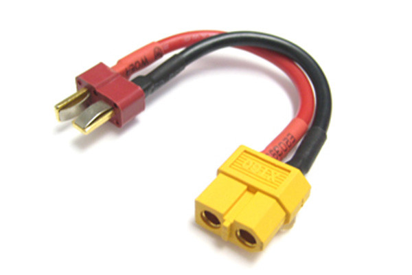 "Etronix Female XT-60 to Male Deans ""T"" Plug Connector Adaptor Lead ET0842"