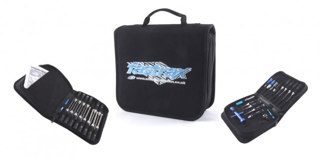 Fastrax Mega Tool Carry Bag with 40 Slots, Zip Slot and 2 Layers