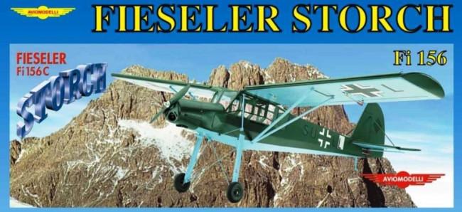 Fieseler Storch Fi156 RC Model Plane Kit - Mantua AvioModelli
