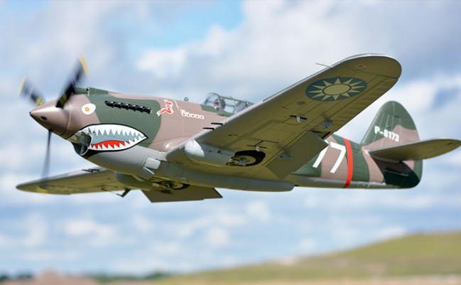 FMS P-40B Flying Tiger Super Scale 1400mm ARTF Warbird, Retracts no Tx/Rx/Bat