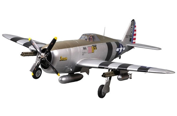 "FMS P-47 Razorback ""Bonnie"" 1500mm ARTF Warbird with Retracts, Flaps no Tx/Rx/Bat"