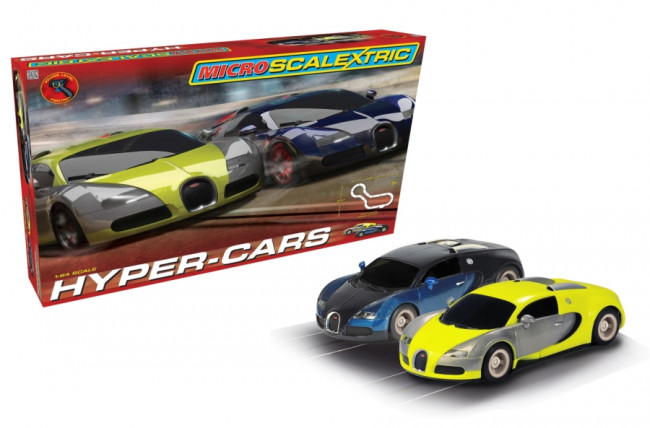 Bugatti Veyron Hyper-Cars Micro Scalextric Slot Car Racing Set G1108