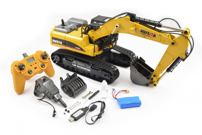 Large 1/14th Scale 23 Channel RC Die-Cast Metal Excavator - Smoke, Sound & Lights
