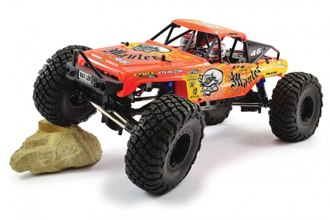FTX Mauler 4x4 Rock Crawler 1:10 Scale Ready To Run - Orange/Yellow