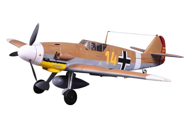 FMS 1400 Series Messerschmitt BF109-F ARTF Warbird Retracts no Tx/Rx/Bat