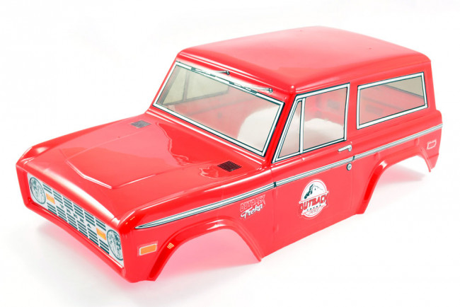 FTX Outback Treka Painted Ford Bronco Style Bodyshell 1:10 Scale - Red