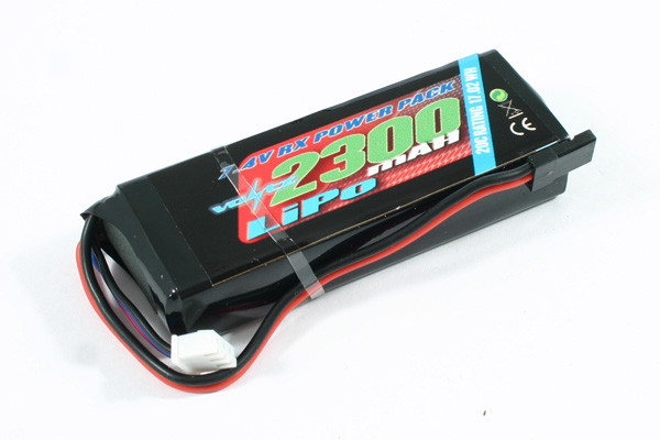 Voltz 2300mAH 2S 7.4V LiPo Receiver Straight Battery Pack