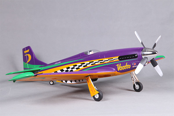 Roc Hobby Voodoo P-51 Sport Reno Racer with Retracts ARTF 1070mm no TX/RX/Battery