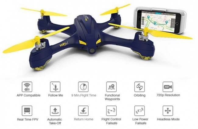 Hubsan 507A X4 Star Pro Drone GPS, Camera 1Key Follow WiFi Waypoint Alt Hold