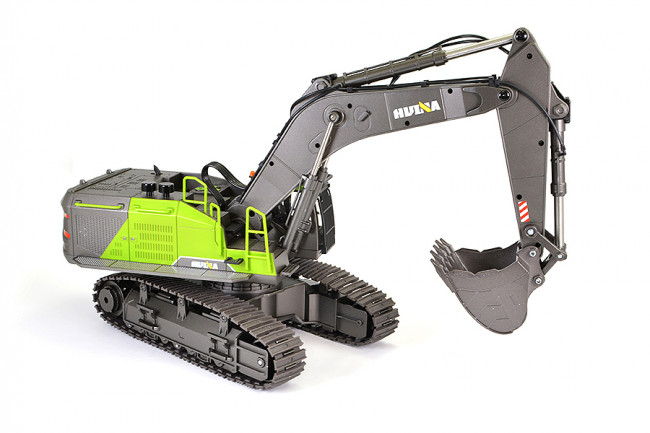 Huina 1/14th RC Excavator Digger Construction Vehicle with Diecast Metal Bucket
