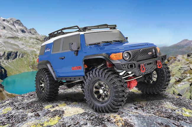 FTX 1/10 Outback Geo Land Cruiser RTR RC Trail Crawler Truck - Blue