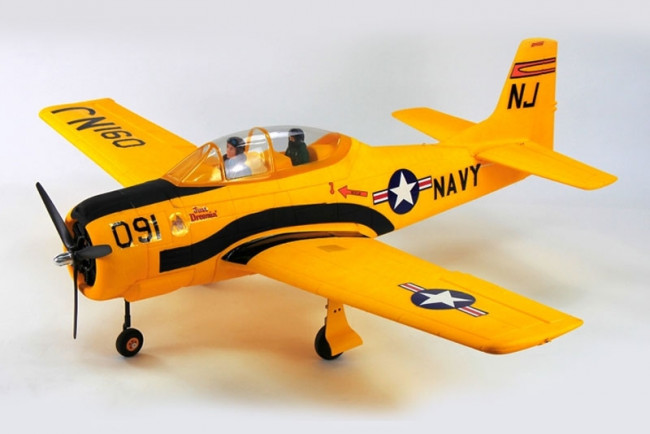 Dynam T28 Trojan ARTF 1270mm, Yellow, Retracts no Tx/Rx/Bat - Superb Scale Flyer!