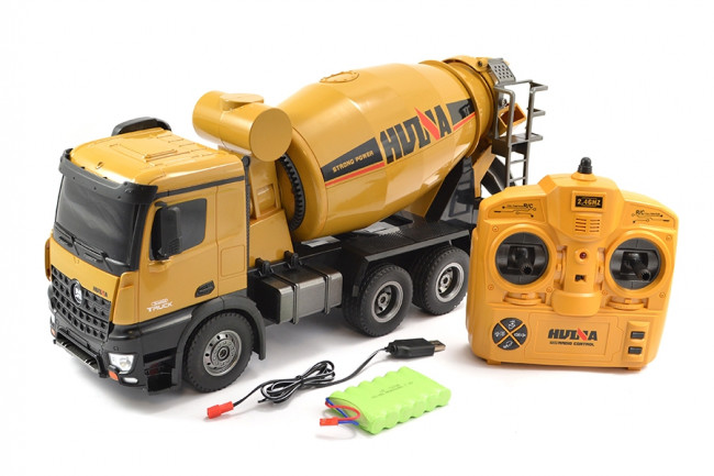 RC Cement Mixer 4WD Truck Large 1/14th Scale Diecast, Lights & Sound