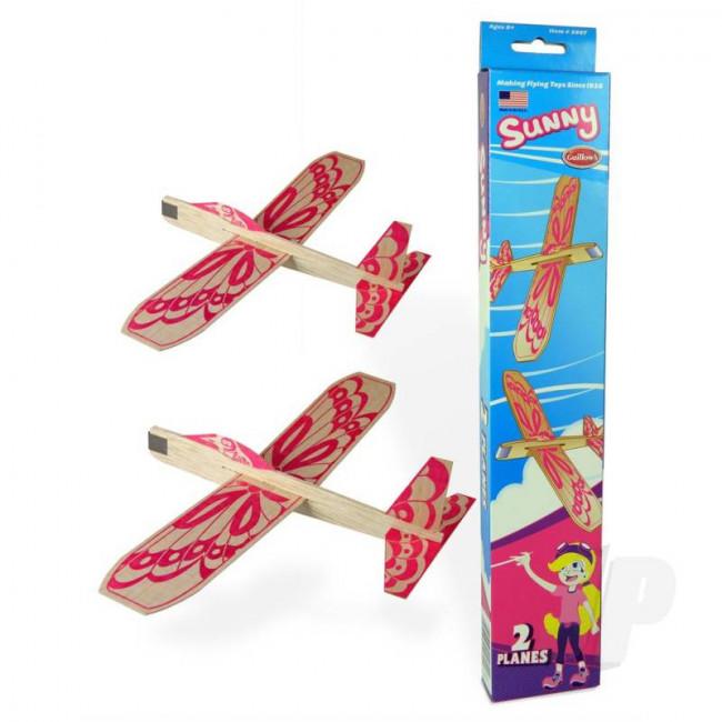 Guillow Sunny Twin Pack Balsa Model Aircraft Kit