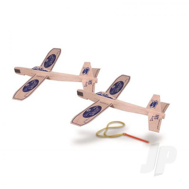 Guillow Slingshot Twin Pack Balsa Model Aircraft Kit