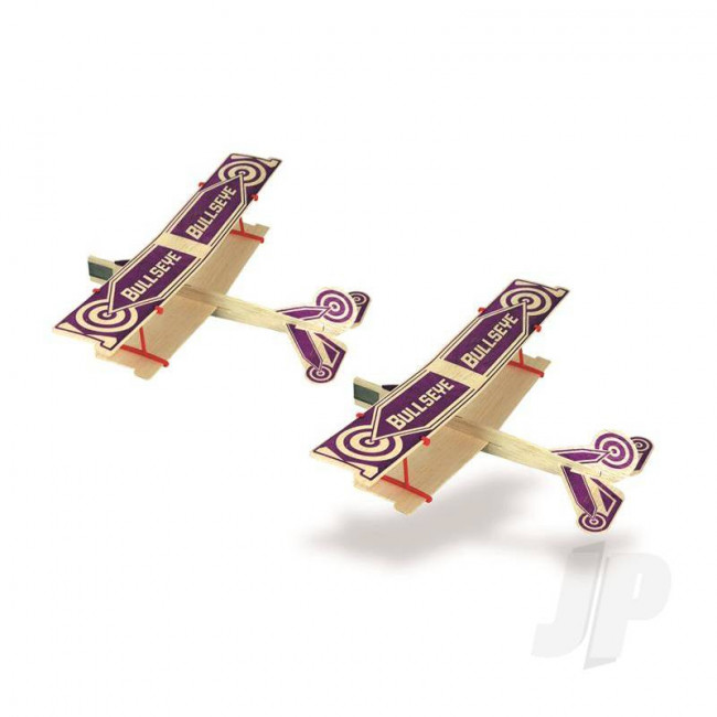 Guillow Bullseye Twin Pack Balsa Model Aircraft Kit