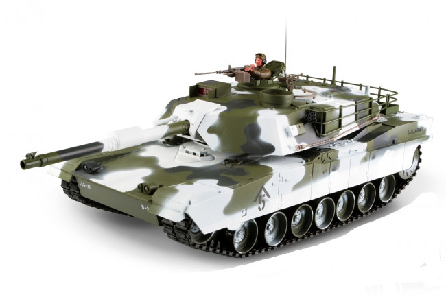 Large Scale RC M1A1 Abrams Tank Winter Edition Upgraded Premium Label Version - Hobby Engine