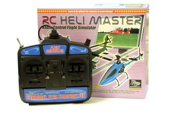 RC Heli Master Flight Simulator with Mode 1 Transmitter