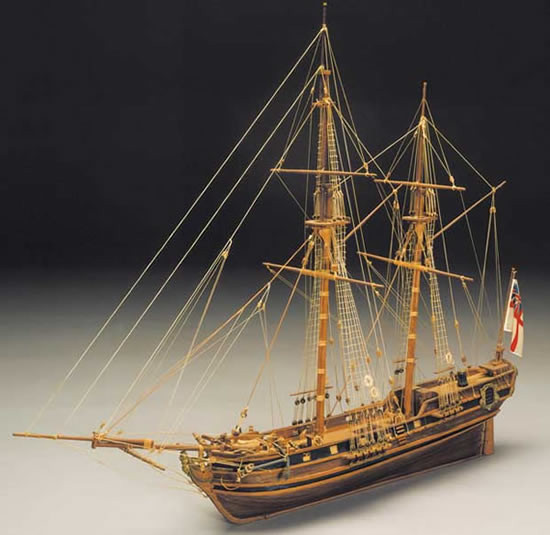 Mantua Racehorse Bomb Ketch Wooden Ship Kit (793) Scale 1:47