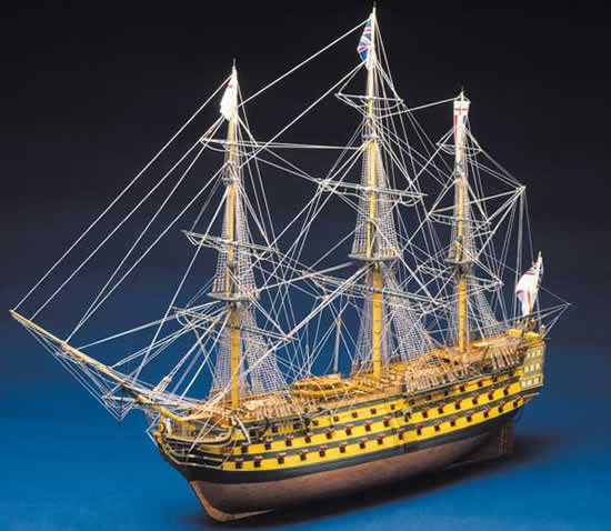 Mantua Panart HMS Victory Nelson's Flagship Wooden Ship Kit Scale 1:78  Length 1300mm