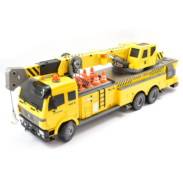 Large Scale 12 Function RC Crane Truck Upgraded Premium Label Version - Hobby Engine