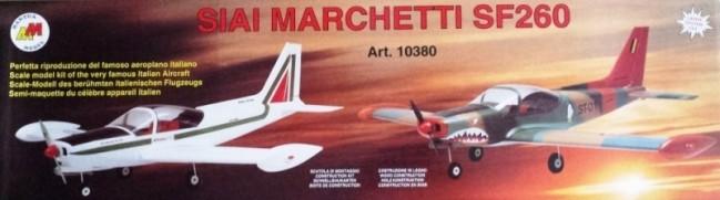 Siai Marchetti SF260 RC Model Plane Kit, Quick Build - Low Wing Semi Scale Plane