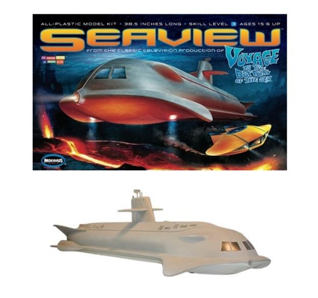 "Huge 39"" Seaview Submarine Voyage To The Bottom Of The Sea Moebius Plastic Kit 707"
