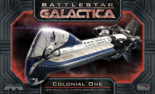 Battlestar Galactica Colonial One Fleet Headquarters Moebius 1:350 Plastic Kit
