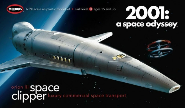 Orion III Space Clipper 2001 Space Odyssey - Moebius 1:160 Plastic Kit