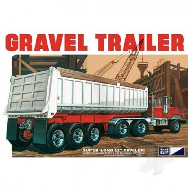 MPC 1:25 3 Axle Gravel Trailer Plastic Kit