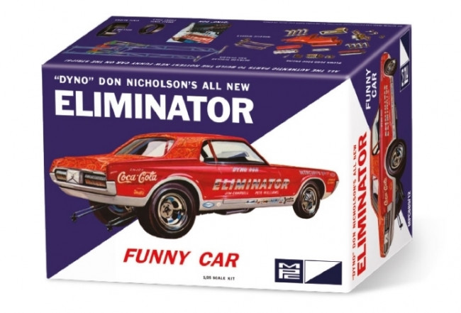 Dyno Don Nicholson Cougar Eliminator Funny Car 1:25 Scale MPC Plastic Car Kit