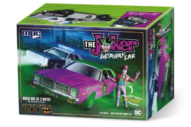 Batman Joker Getaway Car With Resin Joker Figure 1:25 Scale MPC Plastic Car Kit