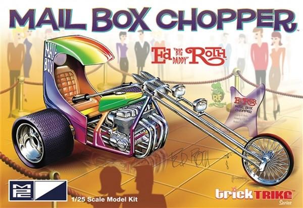 MPC 1:25 Ed Roth Mail Box Clipper Chopper Trike Plastic Kit Model Rat Fink American