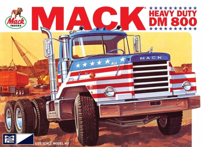 Mack DM800 Semi Tractor Truck 1:25 Scale MPC Highly Detailed Plastic Kit