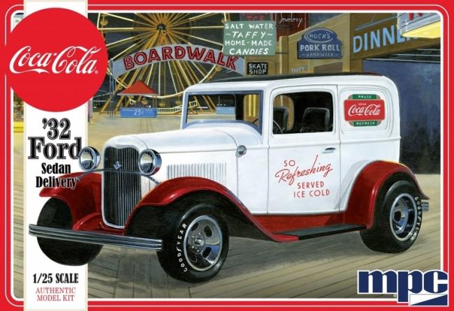 1932 Ford Sedan Delivery Coca Cola 1:25 Scale MPC Plastic Car Kit