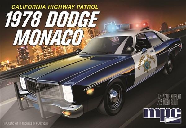 MPC 1:25 1978 Dodge Monaco CHP American Police Car Plastic Model Kit