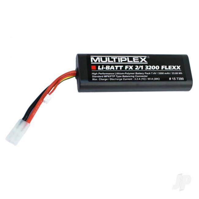 Multiplex LI-BATT Fx 3200mAh 7.4V Flexx 157390 LiPo Battery