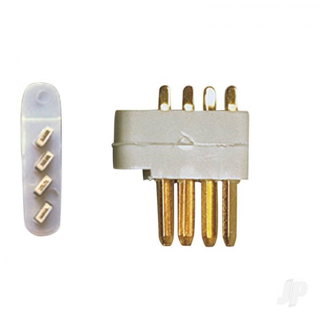 Multiplex 4-Pin servo plug 5pcs (MPX)