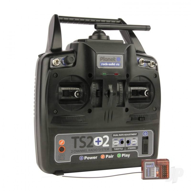 TS2+2 Planet 2 Channel 2.4GHz Stick Radio System with 2 Aux Channels