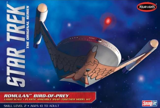 Star Trek Romulan Bird of Prey 1:1000 Scale Polar Lights Plastic Snap Kit
