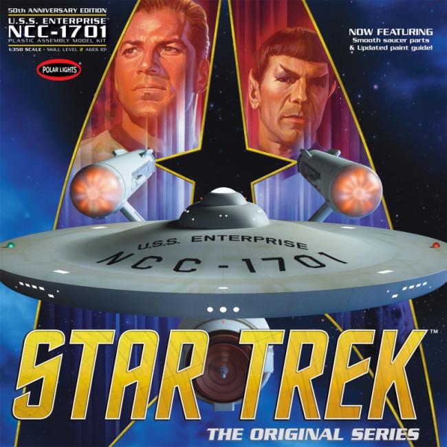 Star Trek TOS Enterprise 50th Anniversary Edition Large 1:350 Scale Polar Lights Kit POL938