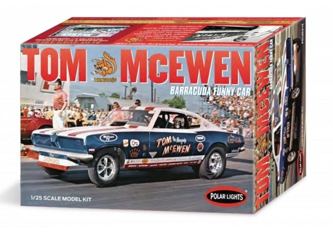 "Tom ""Mongoose"" McEwen 1969 Barracuda Funny Car 1:25 Scale Polar Lights Plastic Kit"