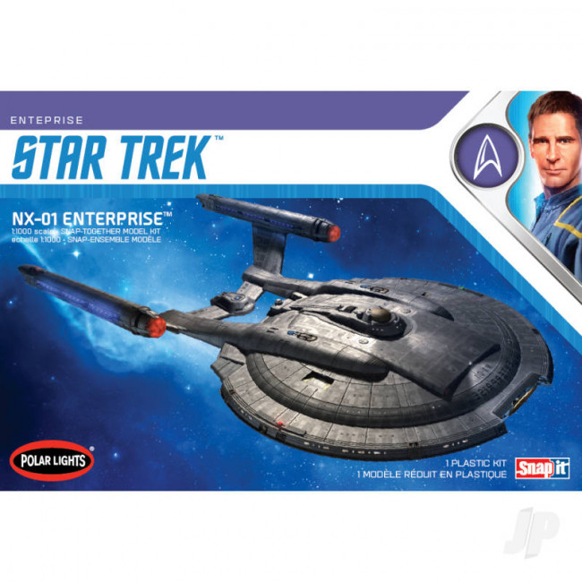 Star Trek NX-01 Enterprise Polar Lights 1:1000 Scale Plastic Kit