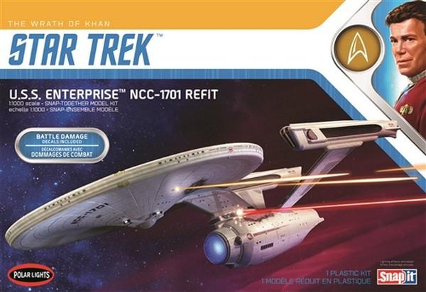 Polar Lights 1:1000 Star Trek USS Enterprise - Wrath of Khan Plastic Model Kit