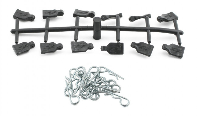 Pro-Line 12 Pull Tabs &  20 Bodyclips  for RC Cars  - Easy Removal of Body Clips!