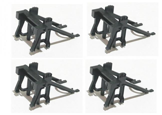Pack of 4 Hornby R083 Track Buffer Stops - 00 Gauge Model Trains